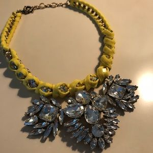 JCREW Yellow String and Diamond Gem Necklace